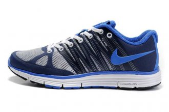 Nike LunarElite+ 2 Blue Grey Mens Running Shoes 429784 002