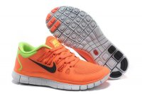 Nike Free 5.0 2V Watermelon Red Fluorescent Green Shoes