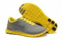 Nike Free 4.0 V2 Charcoal Gray Yellow Shoes