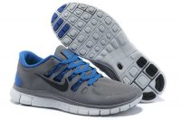 Nike Free 5.0 2V Charcoal Gray Blue Shoes