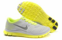 Nike Free 4.0 V2 Light Gray Fluorescent Green Shoes