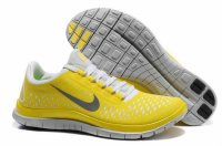 Nike Free 3.0 V4 Yellow Gray Shoes