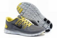 Nike Free 5.0 2V Gray Yellow Shoes