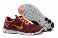 Nike Free 5.0 3V Dark Red Orange Shoes