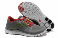 Nike Free 5.0 3V Charcoal Gray Red Shoes