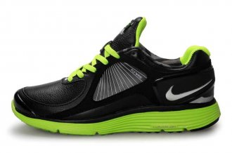Nike Lunar Eclipse Leather Black Green Mens Shoes