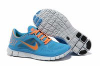Nike Free 5.0 3V Azure Orange Shoes