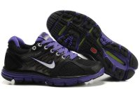 Nike LunarGlide+ 2 Black Purple Womens Shoes