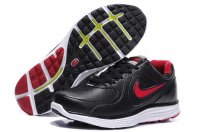 Nike LunarSwift Leather Black Red Mens Running Shoes