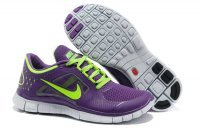Nike Free 5.0 3V Purple Fluorescent Green Shoes