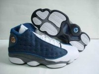 AIR JORDAN 13 Women White and Blue Shoes 2013-1-17