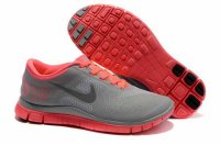 Nike Free 4.0 V2 Charcoal Gray Watermelon Red Shoes