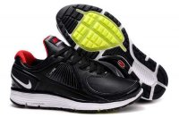 Nike Lunar Eclipse Leather Black Red White Mens Shoes